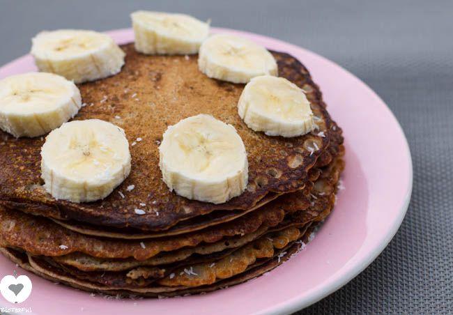 GLUTENVRIJ RECEPT bananen boekweitpannenkoek|Bioteaful