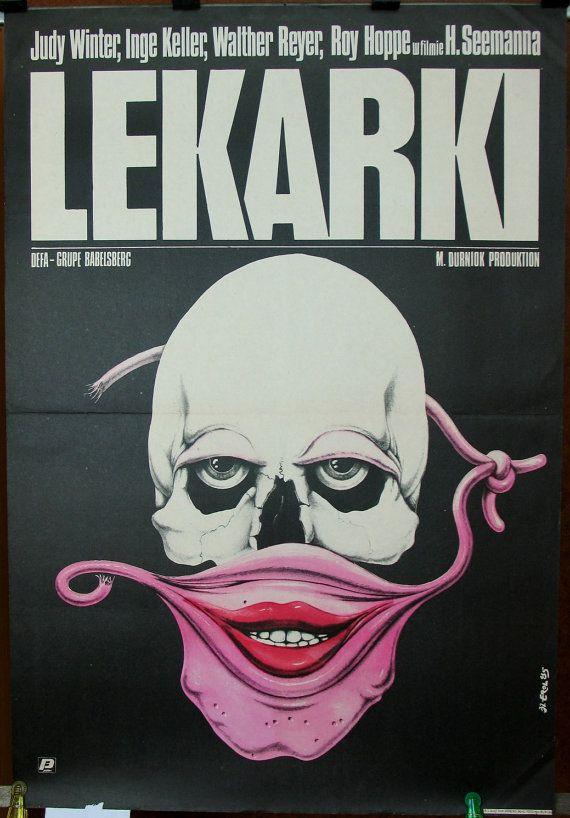 Woman Doctors (Ärztinnen). East Germany 1984 by Horst Seemann film. Polish poster by Jakub Erol 1985. Crime. Drama