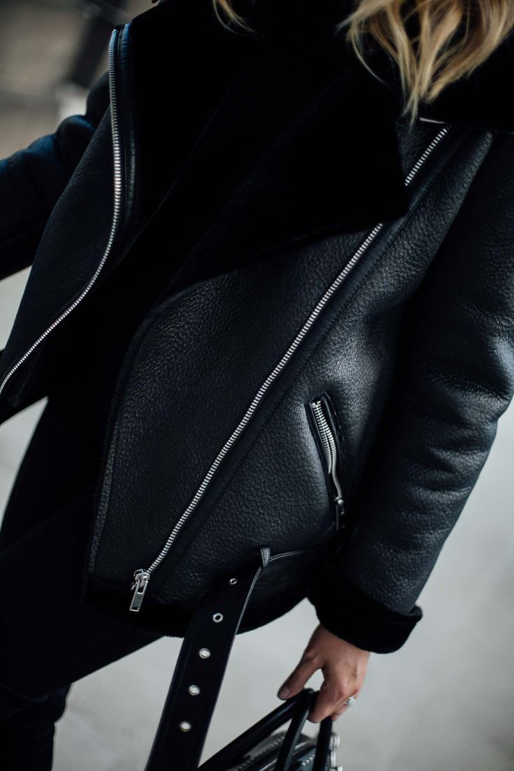Zara black shearling aviator jacket, acne velocity high street dupe