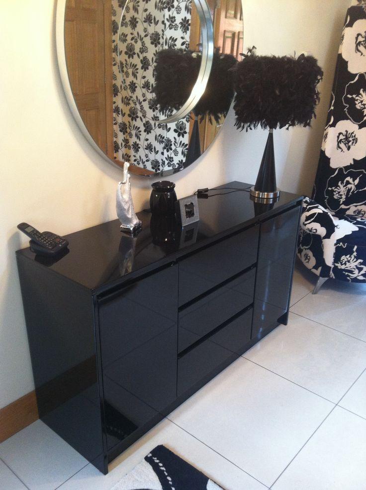 Sophisticated black sheen furniture