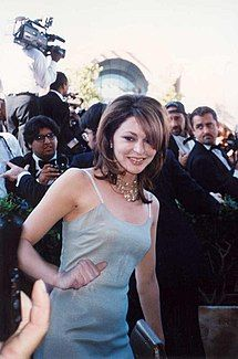 Slip dresses first became widely worn in the mid-90s, as part of the underwear-as-outerwear trend. (Jane Leeves, 1995)