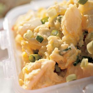To bring out the best in this Classic Potato Salad, toss the barely warm potatoes in the dressing for maximum flavor. Keep refrigerated until ready to serve.