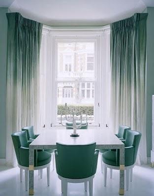 Teal and white dining room. Lovelovelove.