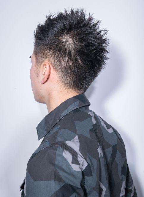 大人カジュアルで男らしいソフトモヒカン(髪型メンズ)
