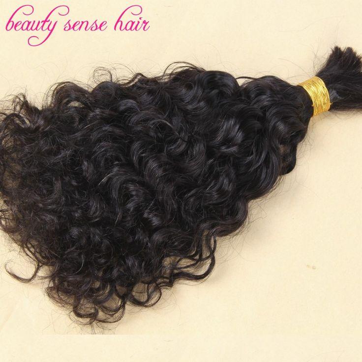 Livraison gratuite cheveux de tressage vrac 3 pcs/lote brésilienne bouclés cheveux humains meilleure qualité cheveux bouclés de tressage humaine en vrac sans trame