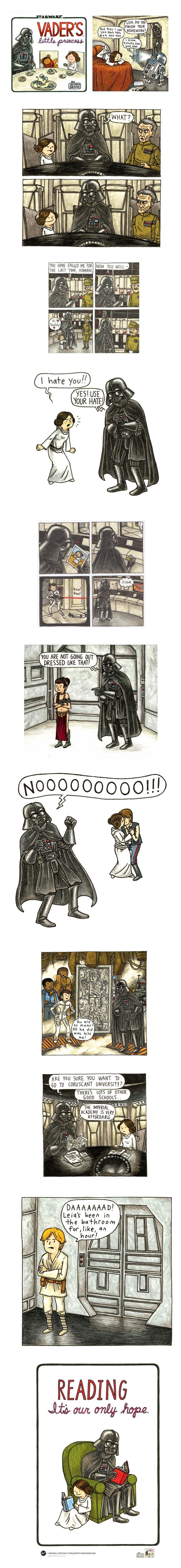 (Vader's Little Princess by Jeffrey Brown)