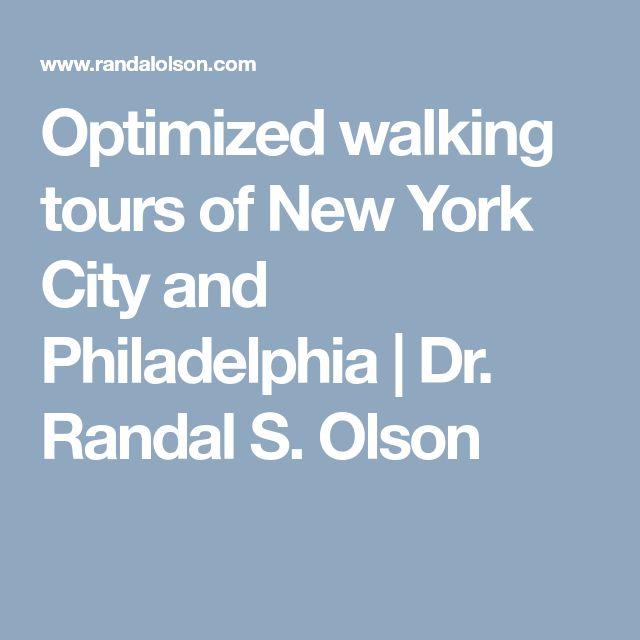 Optimized walking tours of New York City and Philadelphia   Dr. Randal S. Olson