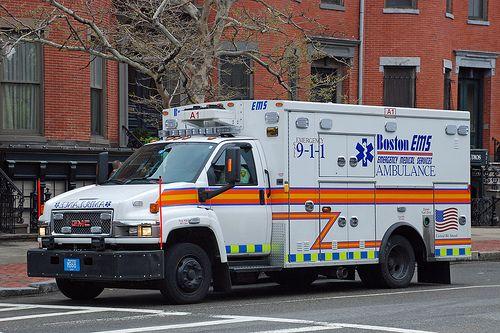 Boston, MA EMS Ambulance.