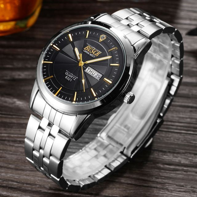 Great Price $8.72, Buy BOSCK Top Brand Wrist Watch Men Waterproof Watches Shockproof Horloge Mannen Auto Week Date Calendar Relogio Quartz Saat Man