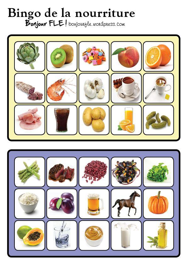 Bingo de la nourriture