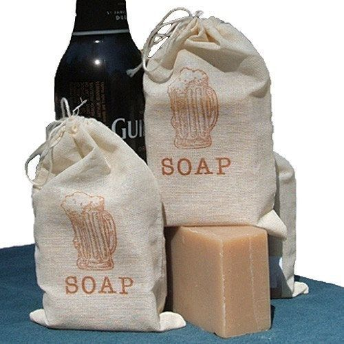 BEER Soap - Made with Guinness Beer - Handmade Cold Process Soap Bar great for Graduation - Groomsmen