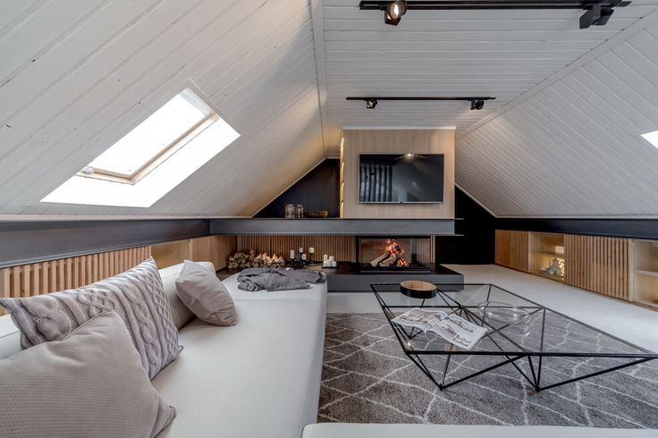 modern interiors & architecture — Attic Apartment by Lofting Designed in 2016 by...