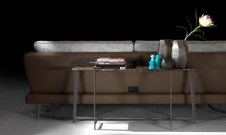 B190, console and back sofa, from the tables collection BSeries by BORZALINO