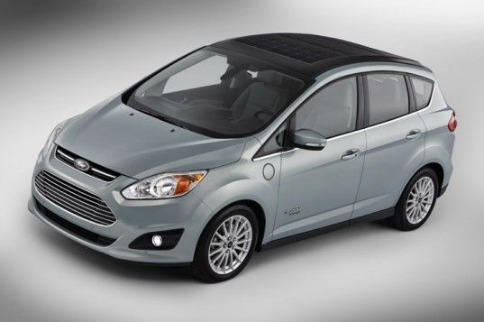 Cool - Solar powered car!  Ford, Ford C-MAX Solar Energi concept, Ford C-MAX, 2014 CES, solar power, electric car, electric motor, plug-in hybrid, solar car, ford sola...