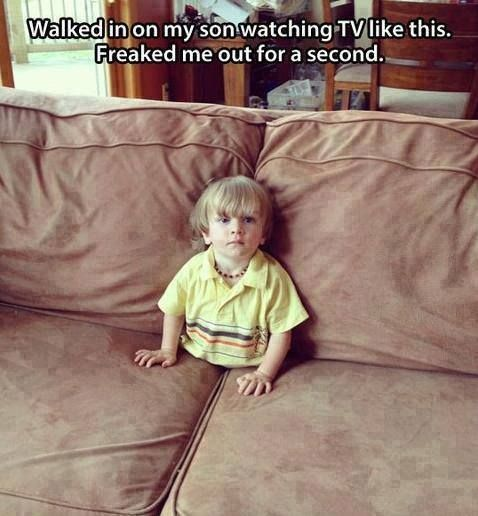 This is weird. I think the couch is alive and ate him. Yup only reasonable conclusion