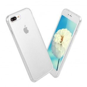 Husa IPhone 7 , Silicon , Transparent, Protectie Fata + Spate, ShockProof 360°