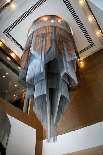 Design metal chandelier (custom made) - CUSTOM - EXTRUDED ISLAMIC GEOMETRIC CHANDELIER - ArchiExpo