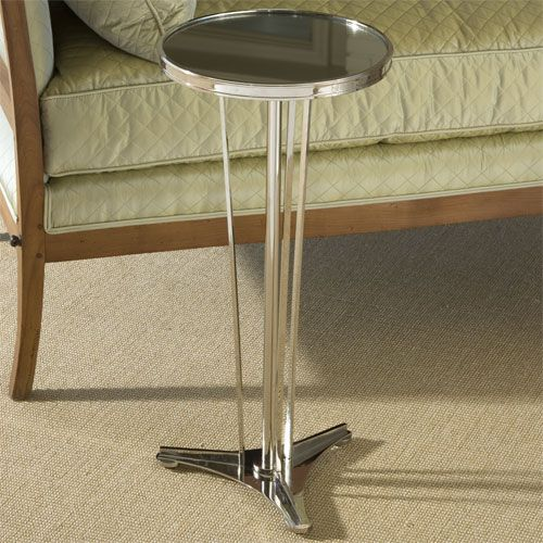 Designer French Modern End Table, In Polished Nickel U0026 Mirror, Sharing  Luxury Designer Home