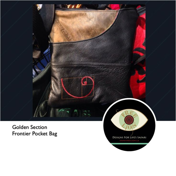 The frontier pocket bag is sized to hold all your essentials and an iPad too. Made from reclaimed leather and embroidered with The Golden Ratio, symbolic of beauty, proportion, harmony and truth. #goldenratio #sacredgeometry #spiral #leather #bag #upcycled #ethicalfashion #eco #sustainable #handmade #vancity #oneofakind