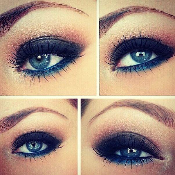 Wunderschönes Augenmake-up in BLAU :)   #dazzlingblue #blau #makeup #lidschatten #smokeyeyes #parfumgefluester #inspiration