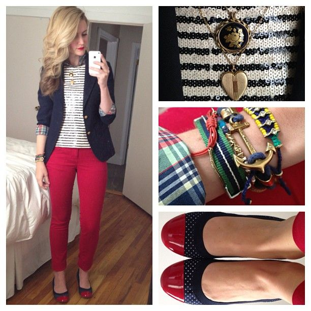 Red, White, Navy & Plaid.