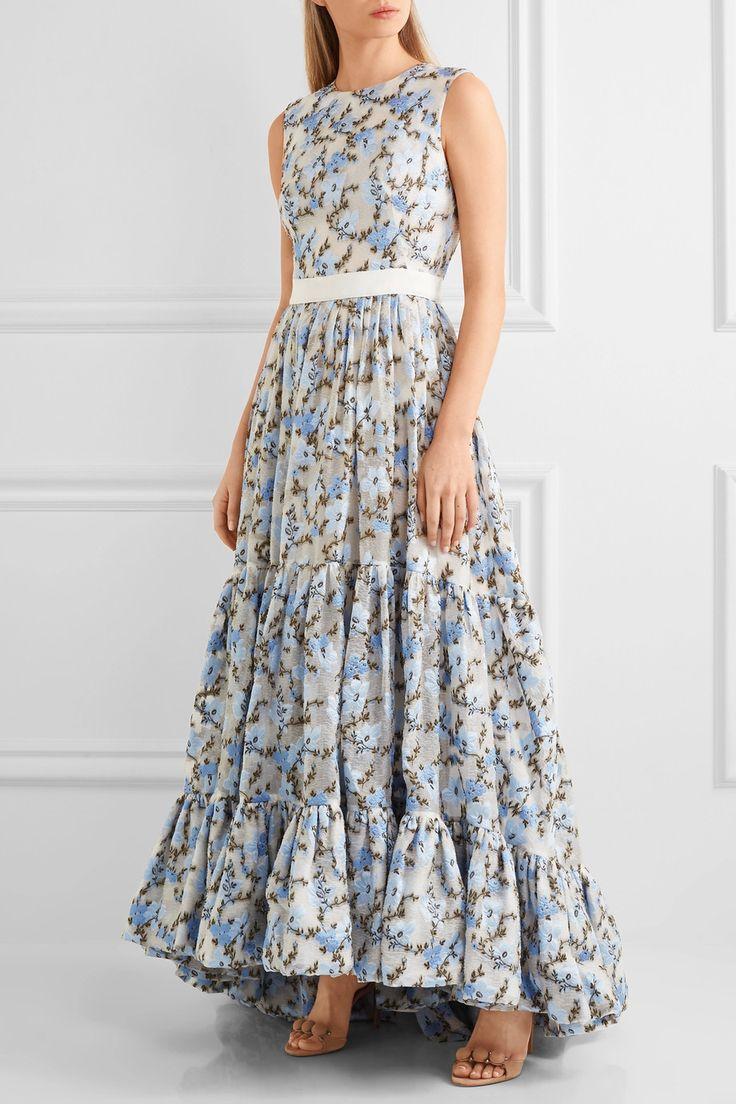 Alexander McQueen | Floral-jacquard gown | NET-A-PORTER.COM