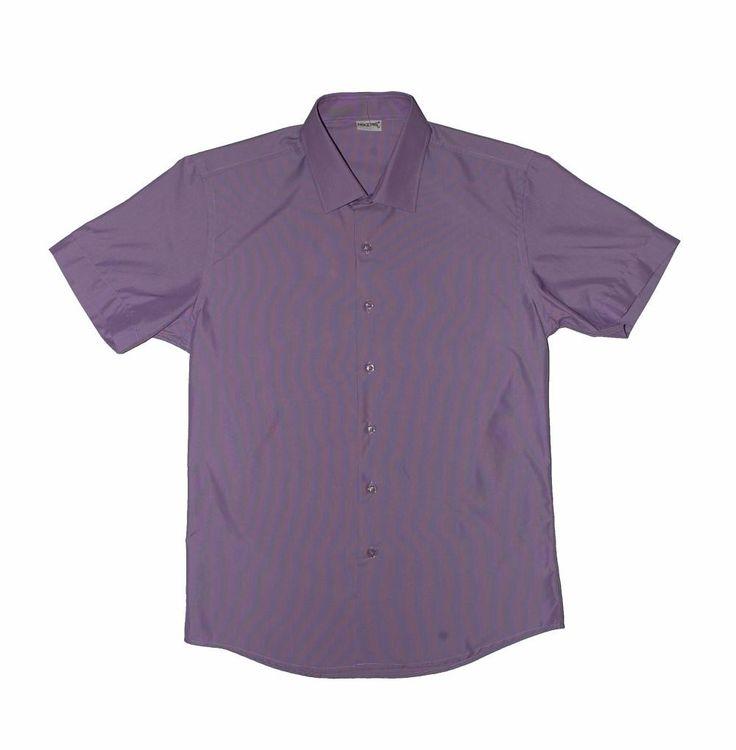 Сиреневая рубашка с коротким рукавом по супер выгодной цене 1500 руб руб, с бесплатной доставкой по Москве и России без предоплаты. В наличие размеры 2XL, XL, M, приезжайте к нам в магазин!