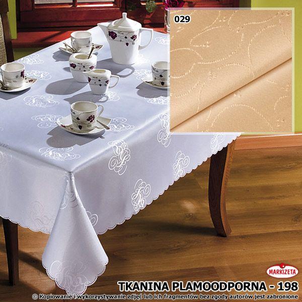 #Nowoczesny_obrus_plamoodporny Delikatny wzór to piękna i gustowna ozdoba tej plamoodpornej tkaniny. Tu w praktycznym, kremowym kolorze. Tkanina odpowiednia na obrusy i serwety. Taki obrus spodoba się przede wszystkim rodzicom małych dzieci.  szerokość: 160 cm  kolor: kremowy materiał: tkanina plamoodporna  kasandra.com.pl