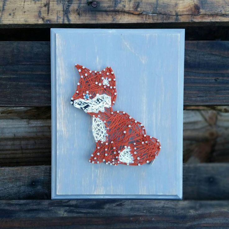 Fox String art woodland nursery decor woodland