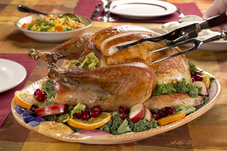 This Thanksgiving-perfect, Butter-Basted Herbed Turkey isn't just pretty to look at it, it's got buttery goodness in every bite, too! Thanks to an easy, throw-together herb-butter, your main attraction is gonna have everyone at the table talkin' turk