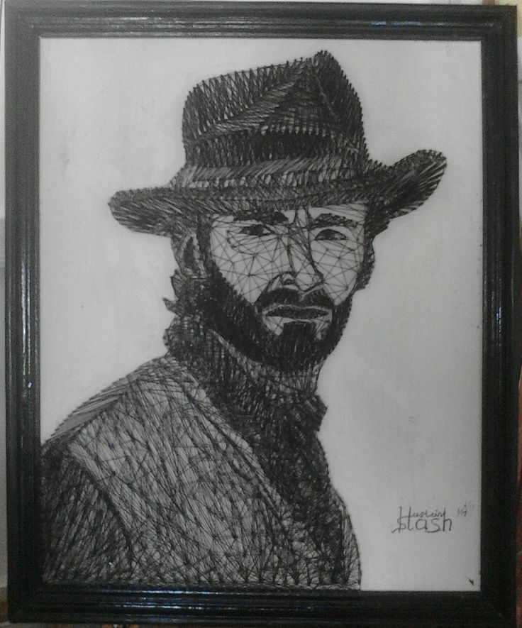 String Art Portrait The Hug Jackman For sell