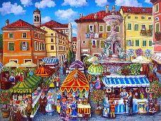 Elio Nava, Il mercatino in piazza Garibaldi a Bassano del Grappa