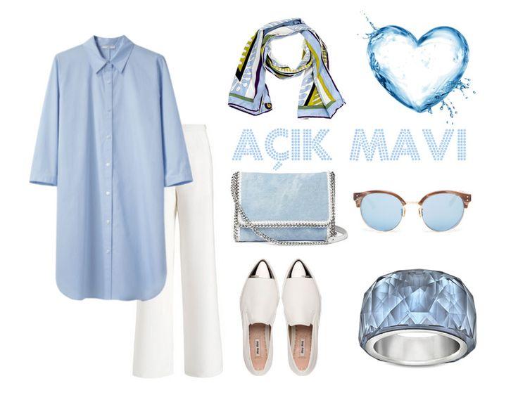 Renk Kombinasyonları - Açık Mavi Tesettür Kombin http://www.yesiltopuklar.com/dogru-renk-kombinasyonu-psikolojiyi-etkiliyor.html