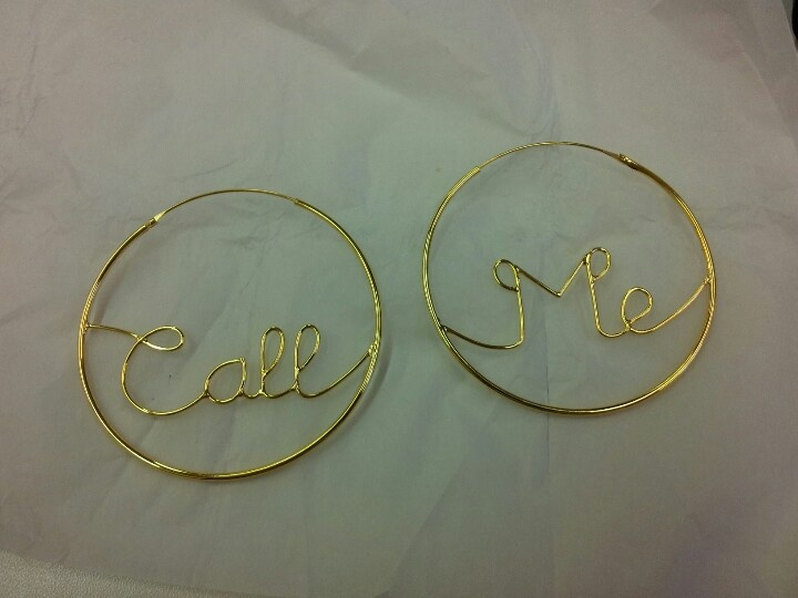 Oversized 'Call Me' Hoops commissioned by Tess Daly