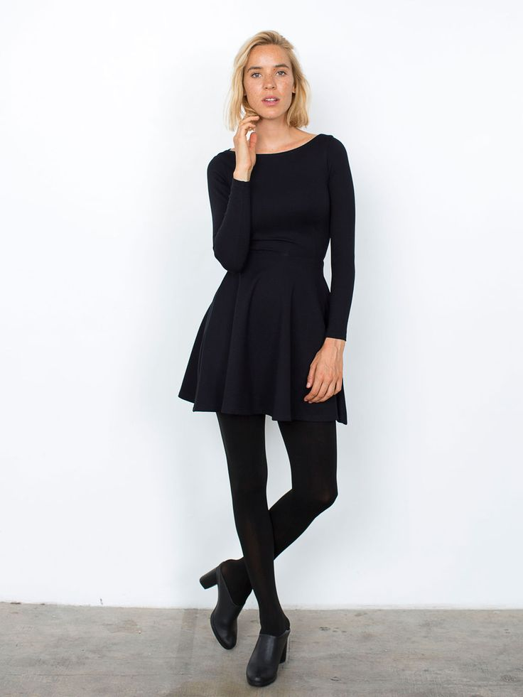 Turmec » black skater dresses long sleeve juniors 35febffbc