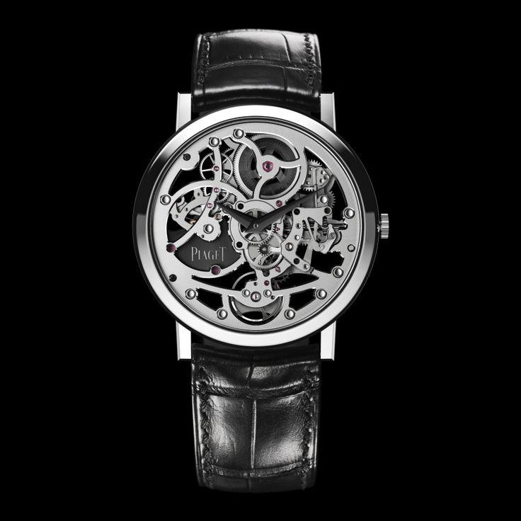 Montre Squelette Extra-plate Or blanc - Piaget Montre de Luxe G0A37132
