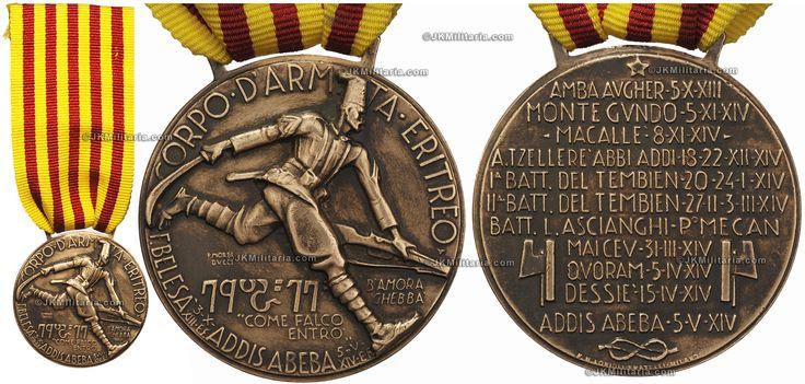 ITALY - Italian Eritrean Corps (Corpo D'Armata Eritreo) 1936 commemorative medal.