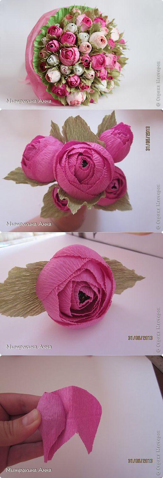 Очень красивые бутоны роз из гофрированной бумаги. Мастер-класс. | свит дизайн | Постила