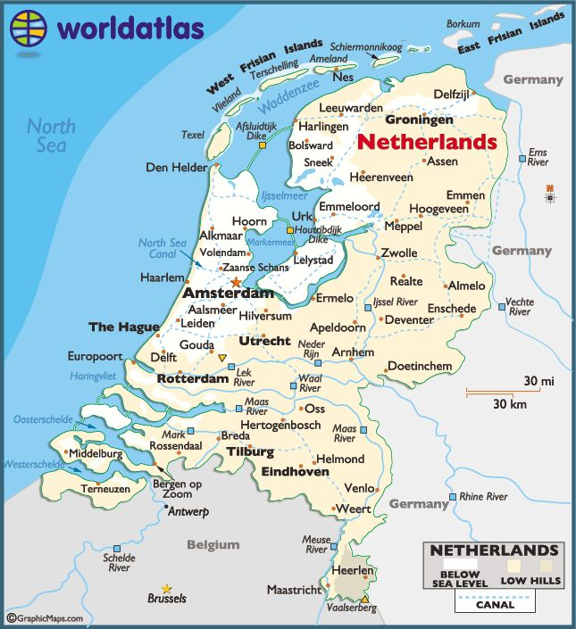 Map of Holland/The Netherlands