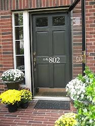 Vinyl numbers on the front door