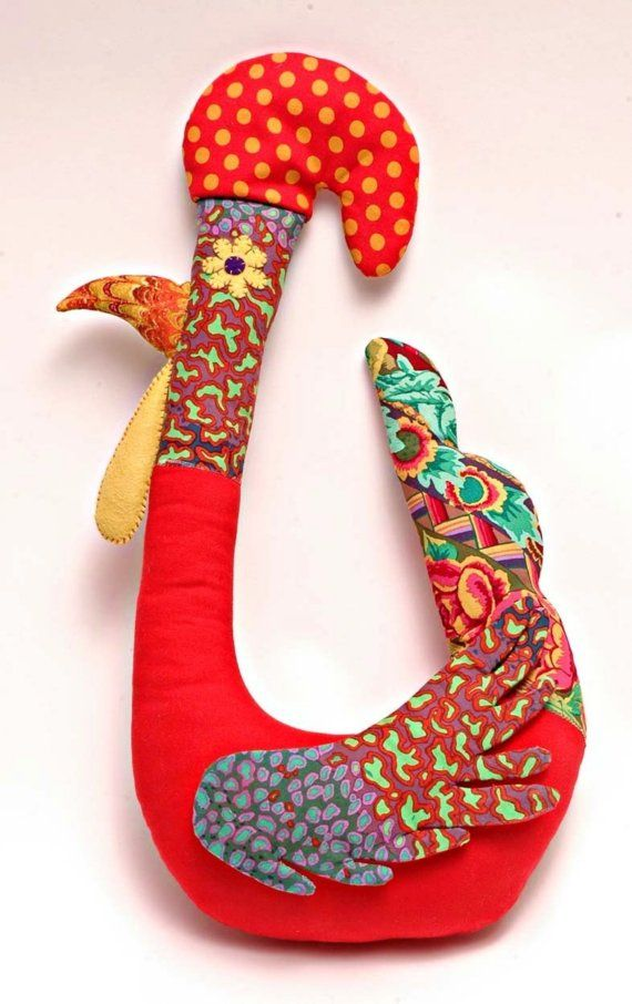 Kooky Chicken Number One. $70.00, via Etsy. funky chicken plushie toy for easter