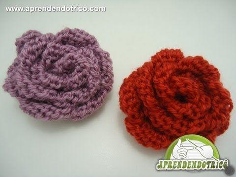 Você pode incrementar seus acessórios com estas belas rosas em tricô. Aprenda com nossa vídeo aula! Acesse nosso site e assista mais vídeo aulas de trico e r...