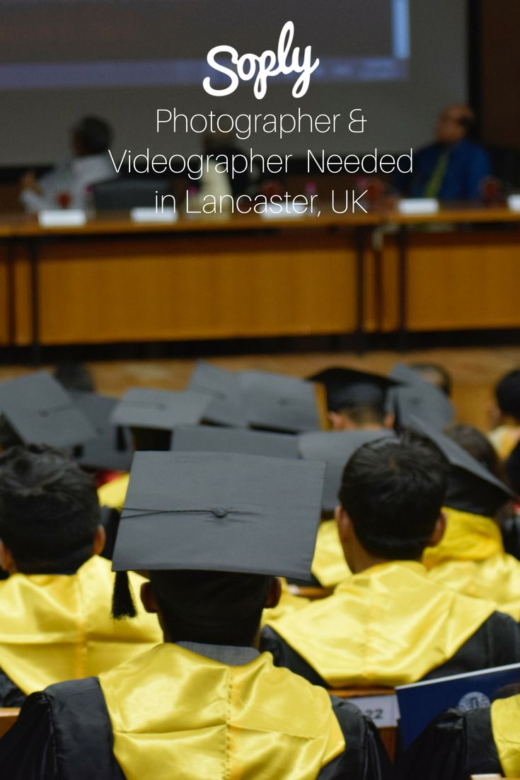 #Photographer & #videographer needed to take #photos and #video of a new #grad and #family in #Lancaster #United Kingdom. See the #freelance job and apply by clicking the pin!