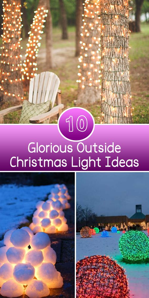 149 best Outdoor Christmas Decorations images on Pinterest ... Diy Outdoor Xmas Lighting Ideas on outdoor water features ideas, outdoor party lights ideas, xmas light ideas, outdoor christmas ideas,