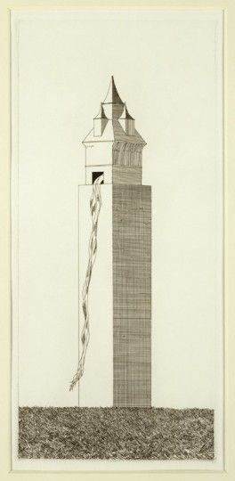 'THE TOWER HAD ONE WINDOW' FROM ILLUSTRATIONS FOR SIX FAIRY TALES FROM THE BROTHERS GRIMM 1969, David Hockney