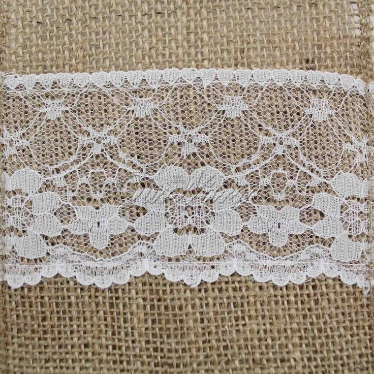 US Shipping 50 Rustic Burlap Lace Flatware Storage Bags for Wedding Party Decor  #ourwarm