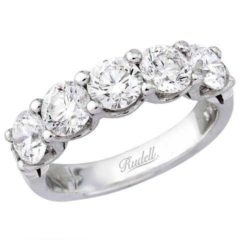 band diamond white stone rng bands real shared ring gold wedding prong