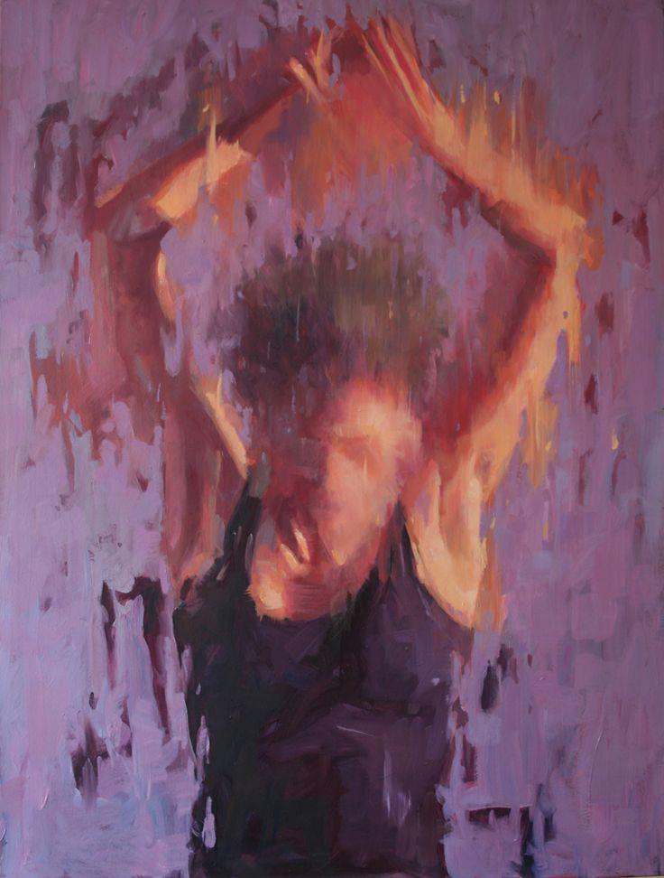 'Reaching.' oil painting by Jamel Akib