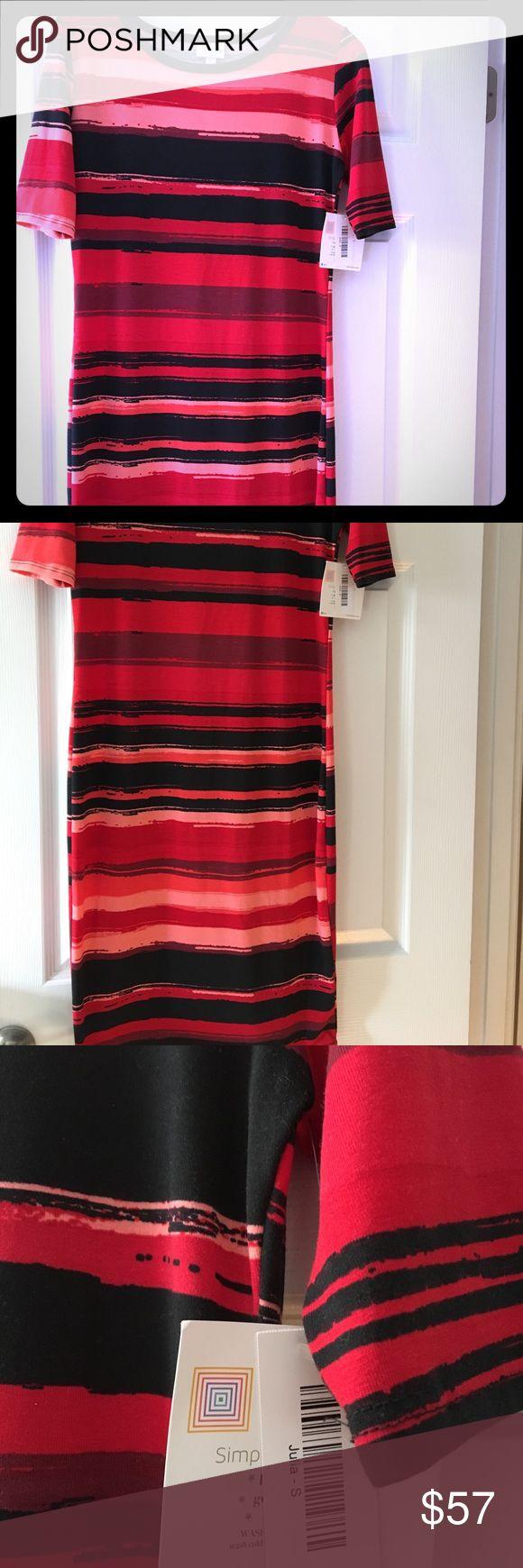 BNWT LulaRoe Julia BNWT LulaRoe Julia. Size small. Beautiful reds and pinks. LuLaRoe Dresses Midi