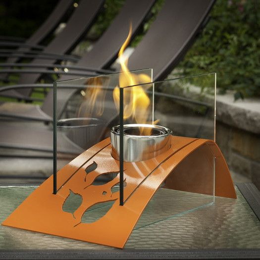 Decorpro Twilight Steel Bio Ethanol Tabletop Fireplace